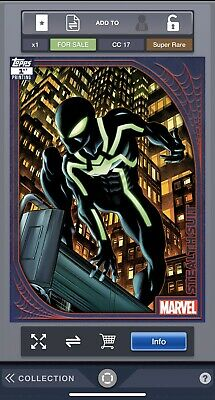 Topps Marvel Collect Spider Suits 1st Print Stealth Suit