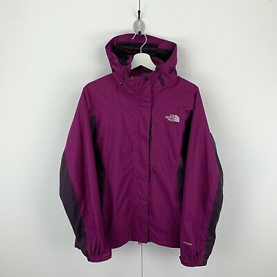 Womens THE NORTH FACE Hyvent Hooded Jacket Coat Waterproof TNF Size XL Purple