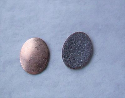 25X Copper Blanks for enameling use-SMALL OVAL  shape -counter enameled