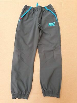 D278 Kids Nike Grey Blue Tracksuit Bottoms Joggers 13-15 Years W28 L27.5