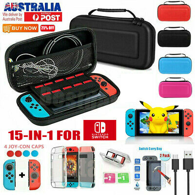 For Nintendo Switch Case Carrying Bag Console Cover Accessories Screen Protector