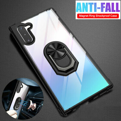 Shockproof Armor Case for Samsung Galaxy S9 Note 10 Plus Hybrid Ring Stand Cover
