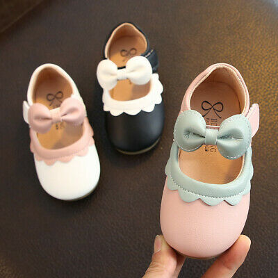 Toddler Kids Children Baby Girls Shoes Princess Shoes Solid Casual Single Shoes