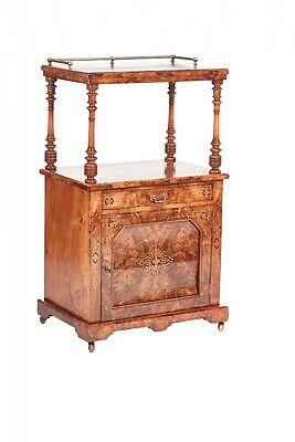 Quality Victorian Inlaid Burr Walnut Canterbury