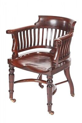 Outstanding Quality Victorian Mahogany Desk Chair
