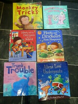 Harry and the Dinosaurs, Aliens love underpants, 6 book collection 2 years up
