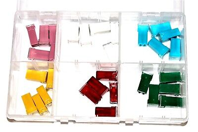Assorted Box of JCASE Type Fuses QTY 30 20A 25A 30A 40A 50A 60A Fuse AT127