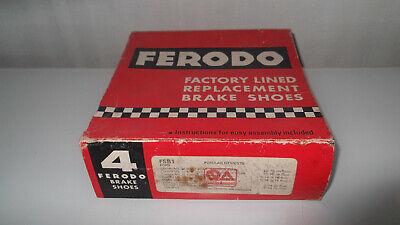 Ferodo Factory Lined Replacement Rear Brake Shoes FSB1 One Pair Only
