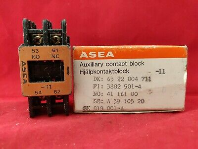 Asea Sk819001-A Auxiliary Contact Block New