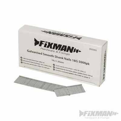 Fixman Galvanised Smooth Shank Nails 18G 5000pk 19 x 1.25mm