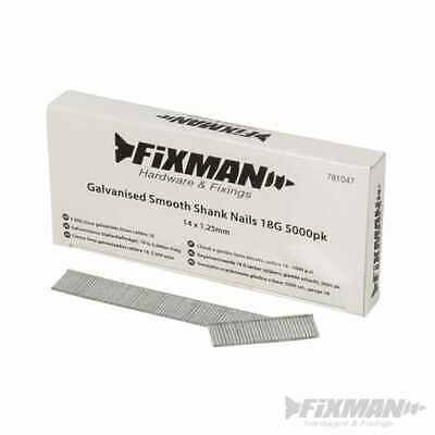 Fixman Galvanised Smooth Shank Nails 18G 5000pk 14 x 1.25mm