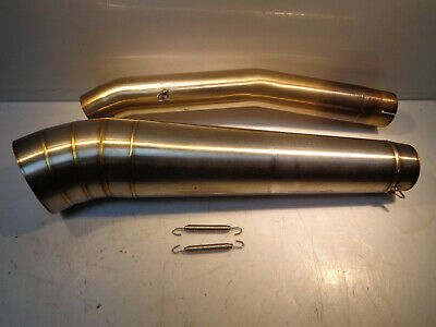 B1(1) - Dan Moto Right hand stainless steel race style exhaust can & connector