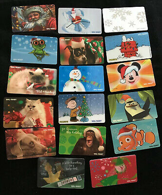 Lot Of 17 WALMART Unactivated, Unused CHRISTMAS Gift Cards - No Value