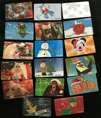 17 WALMART CHRISTMAS Gift Cards - Unactivated, Unused - No Value