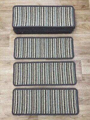 13 Carpet Stair Pads Treads Step Staircase Wool Mix 55cm x 21cm