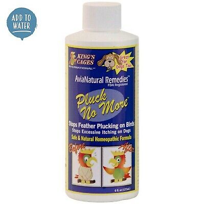 Pluck No More - Natural Feather Plucking Remedy - 177ml - For Parrots and Birds