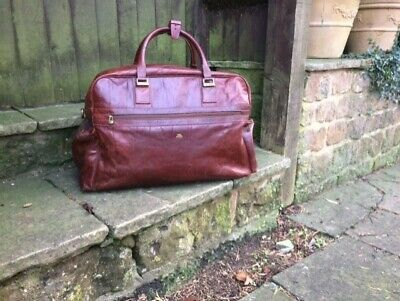 "Vintage ""The Bridge Travel Bag"" Large/Chestnut Leather, Great Condition £325"