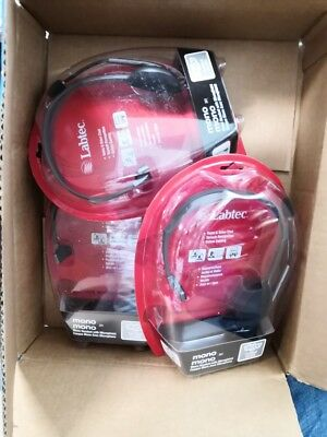 Logitech Labtec Mono 341 Headset with Microphone. SEALED