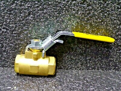 Parker Brass Ball Valve, 1/4 PTF, Locking Handle
