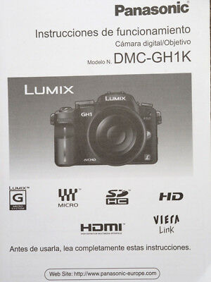 Panasonic GH1 Camera Manual Instructions