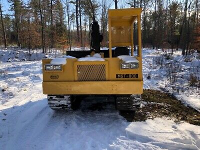 Morooka MST-800 Dump Bed Crawler With Crane