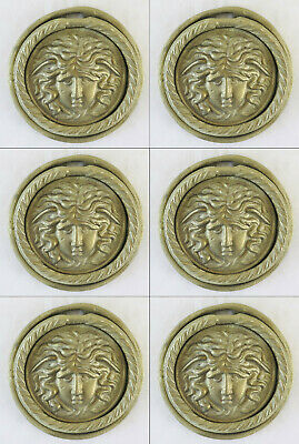 6 Handles for Furniture Antique Bronze a Locket Frieze Accessories CH29