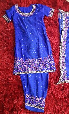 Indian Pakistani Suit Dress Salwar Kameez casual Stitched Shalwar 3 piece Kurta