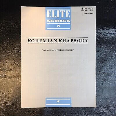 Queen Bohemian Rhapsody Freddie Mercury Sheet Music Elite Series Deluxe Edition