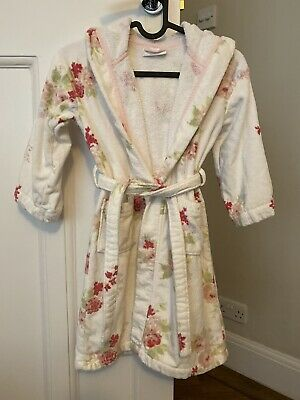 Little White Company Vintage Rose Girls Dressing Gown, Size: 5-6 Years