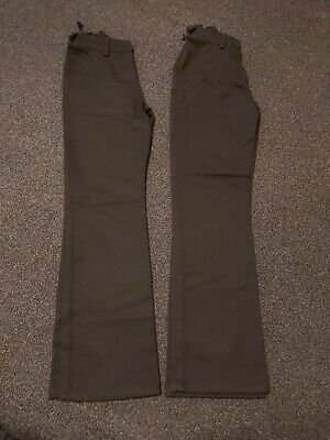 Next Girls Clothes 14 years Slim Black Bootcut School Trousers