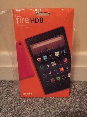 Amazon Fire HD 8 (8th Generation) Tablet With Alexa in Punch Red (16GB).