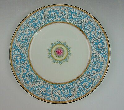 Wedgwood China PRAZE-TURQUOISE FLORAL W2830 Dinner Plate(s)Multiple Available
