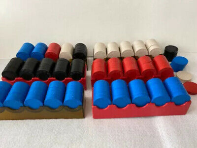 Vintage Clay Solid poker gaming 175 chips in 6 trays