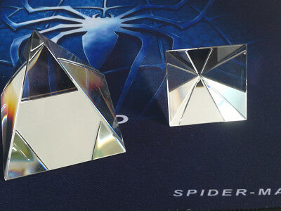 40-100mm Optical Glass Prism Beam Splitter Crystal Pyramid For Natural Sciences
