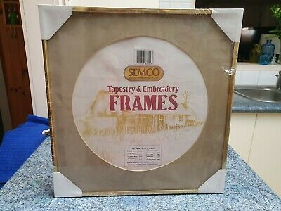 New/Unopened Semco Tapestry & Embroidery Frame - Gold and Beige -