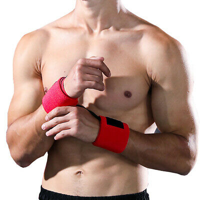 1pair Wrist Support Wraps Loop Gym Elasticated Straps for Strength Training NJ