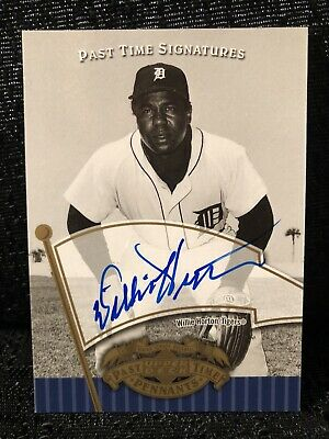Willie Horton Signed Detroit Tigers 2005 Upper Deck Past Time Pennants Auto Card