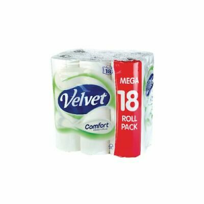 Velvet Toilet Roll 2-Ply (Pack 18 White KSCATV18
