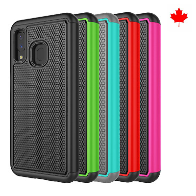Fits Samsung Galaxy A10e A20e Case Shockproof Rugged Rubber Hybrid Impact Cover