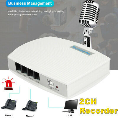 NEW USB PC 2 channel Digital Telephone Phone Call Calls Voice Recorder two CH