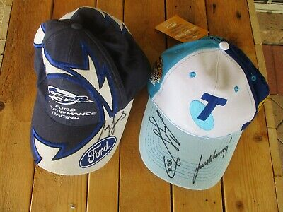 Craig Lowndes Ford + Lowndes/ Whincup V8 Supercars Autographed Caps