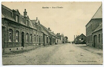 CPA - Carte Postale - France - Anvin - Rue d'Hesdin - 1915 ( I10732)