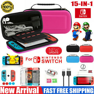 Switch Case Carrying EVA Bag Cover Accessories HD Screen Protector For Nintendo