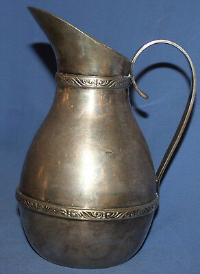 Antique Silver Plated Floral Pitcher Jug