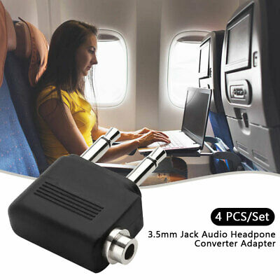 Airplane Airline Headphone Adapter For Audio Jack 2 Plug Air Plane Connector AU