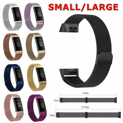 Stainless Steel Watch Band Milanese Mesh Wrist Strap For Fitbit Charge 3 Watch