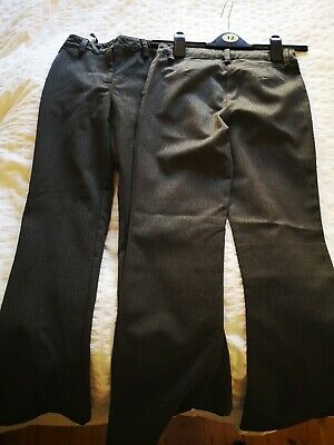 Two pairs Next girls grey schools trousers Age 9 good condition