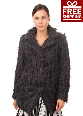 RRP €175 SUPERTRASH GIRLS Faux Fur Coat Size 10Y Fully Lined Single-Breasted