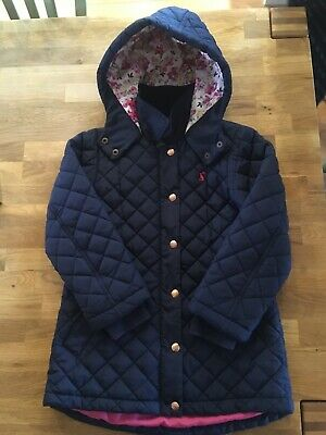 Girls Joules Navy Coat Age 8 Years