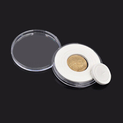 5pcs 51mm ACRYLIC COIN CAPSULES with insert ring for Gold / Silver Coins  £2.95